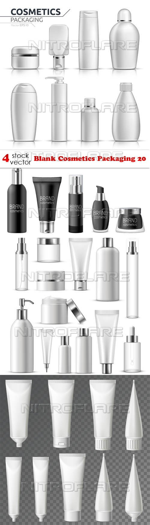 Vectors - Blank Cosmetics Packaging 20