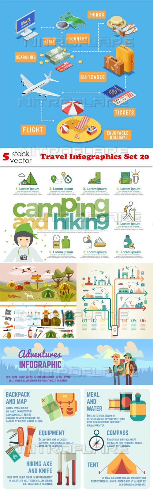 Vectors - Travel Infographics Set 20
