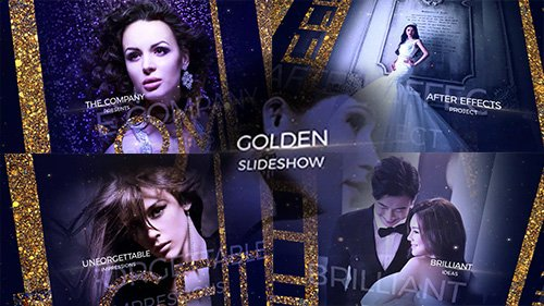 Golden Slideshow - After Effects Templates