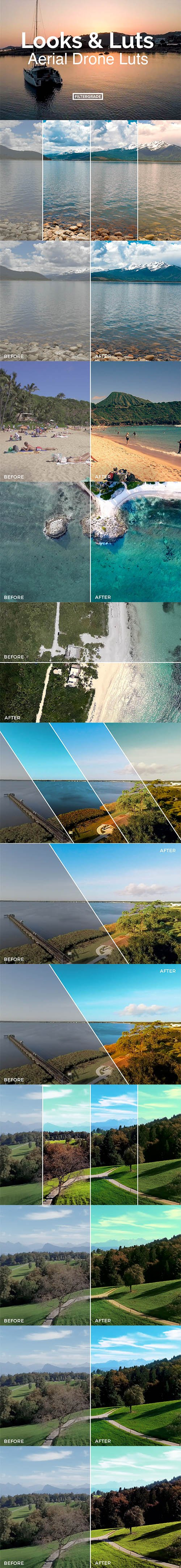 Looks and LUTs Aerial Drone LUTs