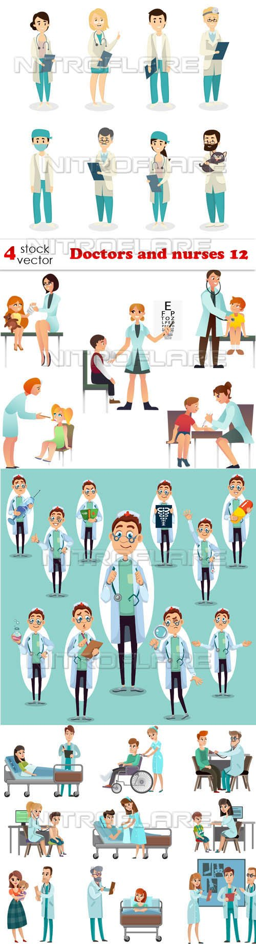 Vectors - Doctors and nurses 12