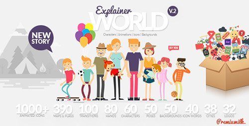 Explainer World Video Toolkit Library - Project for After Effects (Videohive)