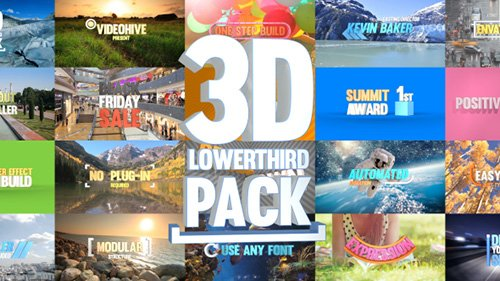 3D Lowerthird Title Pack - Project for After Effects (Videohive)