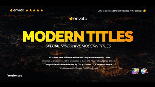 Modern Promo Titles Pack for FCPX - Apple Motion Templates (Videohive)
