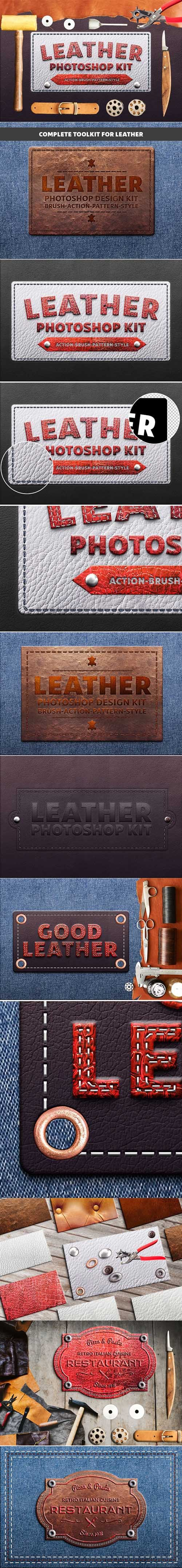 GraphicRiver - Photoshop Leather Kit 21241350