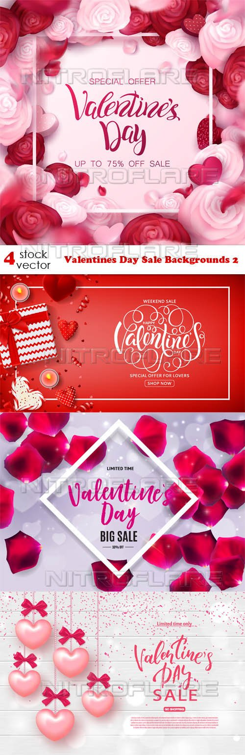 Vectors - Valentines Day Sale Backgrounds 2