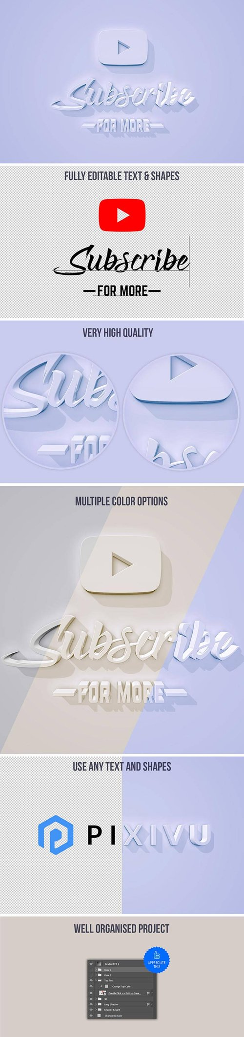 3D Text Effect in PSD
