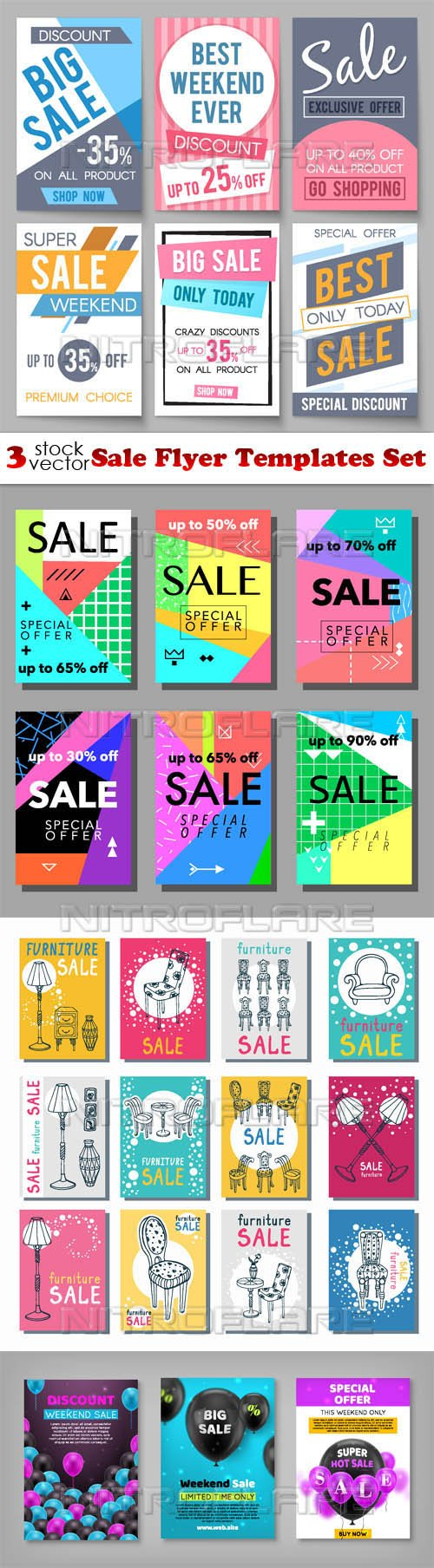 Vectors - Sale Flyer Templates Set