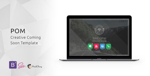 ThemeForest - POM v1.0 - Creative Coming Soon Template - 11875469