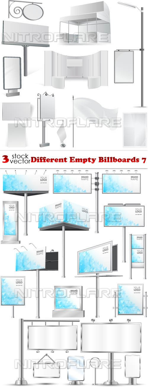 Vectors - Different Empty Billboards 7
