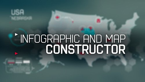 infographic and map constructor - Project for After Effects (Videohive)