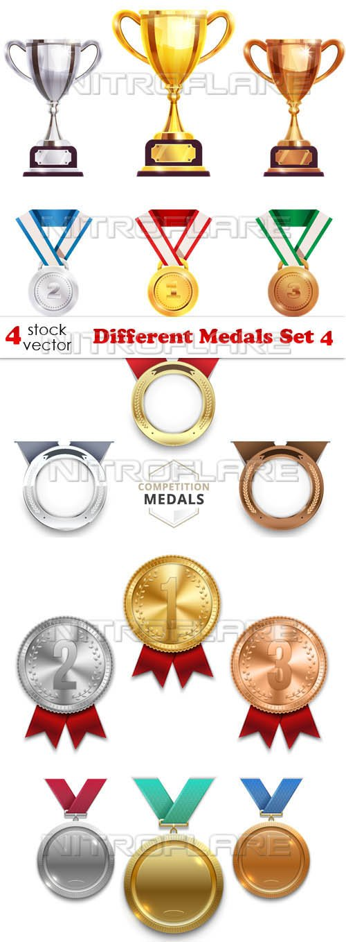 Vectors - Different Medals Set 4