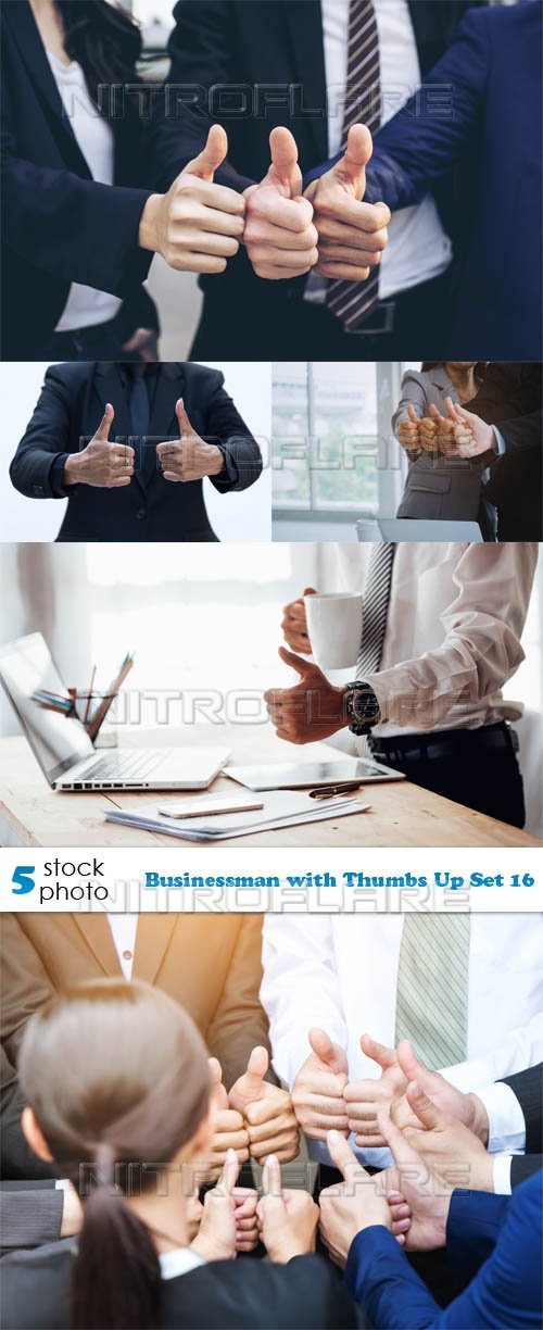 Photos - Businessman with Thumbs Up Set 16