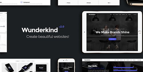 ThemeForest - Wunderkind v2.1.3 - One Page Parallax Theme - 7601990