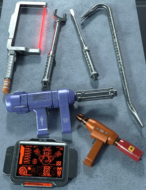 Sci Fi Hand Tools 1
