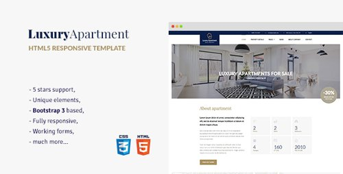 ThemeForest - Luxury Apartment v1.3 - Single property HTML5 Template - 17429541