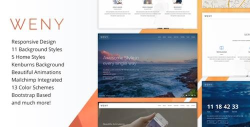 ThemeForest - Weny v1.5 - Responsive Coming Soon Template - 15109267