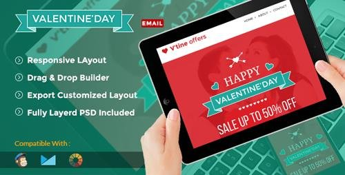 ThemeForest - Valentine v1.0 - Shopping Promotion Email Template + Online Builder Access - 10266941