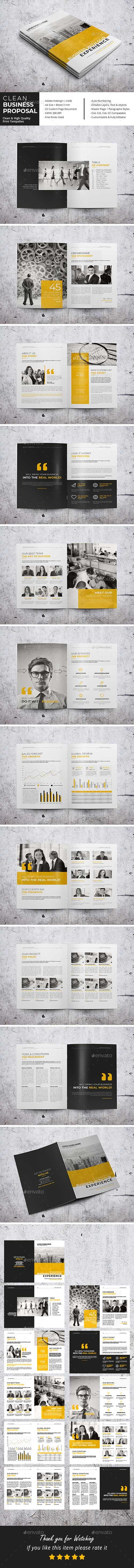 Graphicriver - Clean Business Proposal 21280656