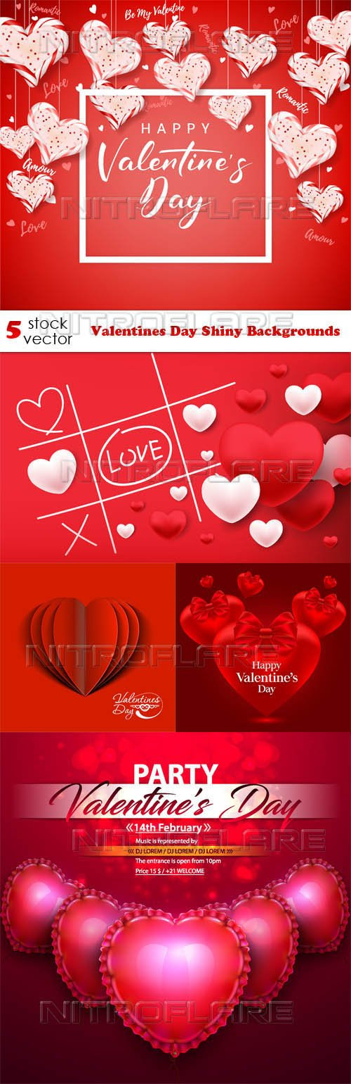 Vectors - Valentines Day Shiny Backgrounds