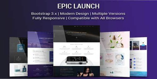 ThemeForest - Epic Launch v1.0 - High-Converting Landing Page Template - 20831859