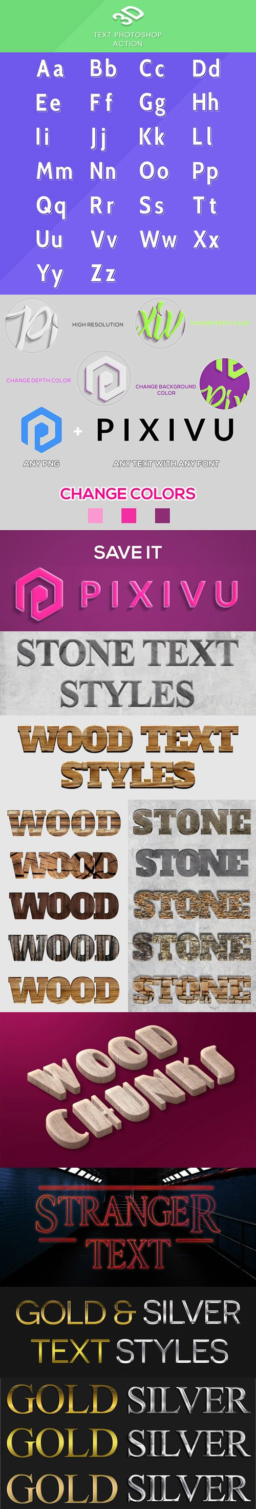 7 Text Effects & Styles Collection for Photoshop