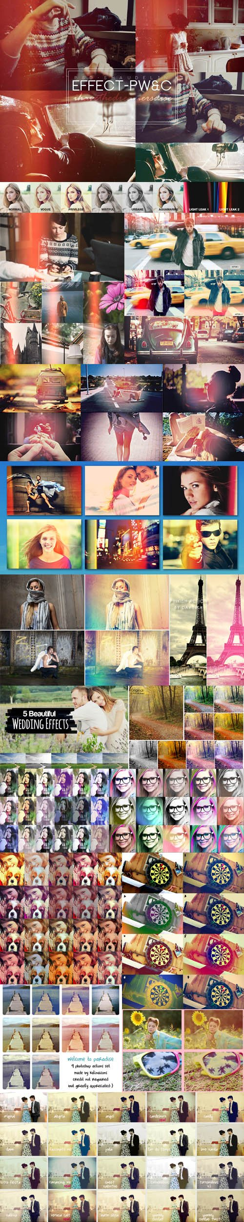 Light Leaks & Retro Effects Photoshop Actions (16 ATN)