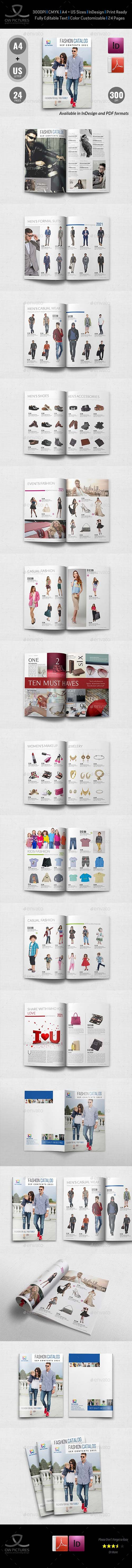 GraphicRiver - Fashion Catalog Brochure Template - 24 Pages 21284498