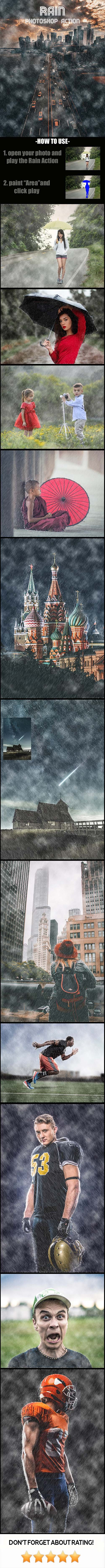 GraphicRiver - Rain Photoshop Action 21283393