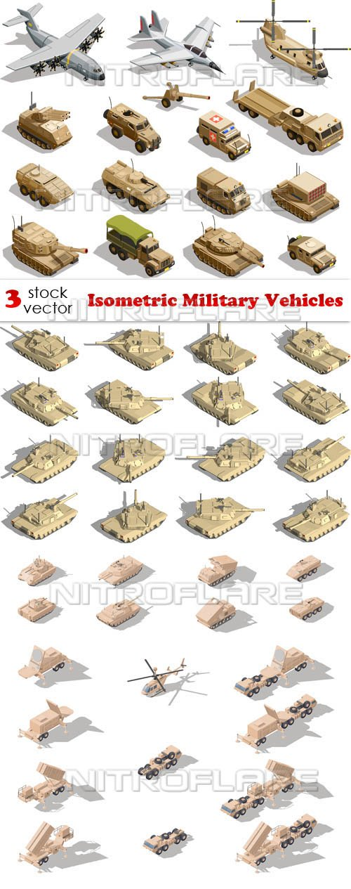 Vectors - Isometric Military Vehicles