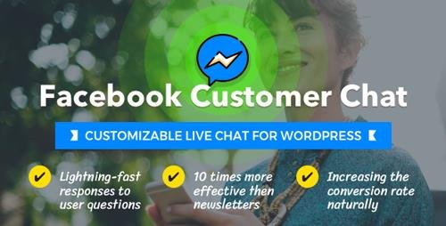 CodeCanyon - Facebook Customer Chat v1.0.3 - Customizable Live Chat for WordPress - 21221081