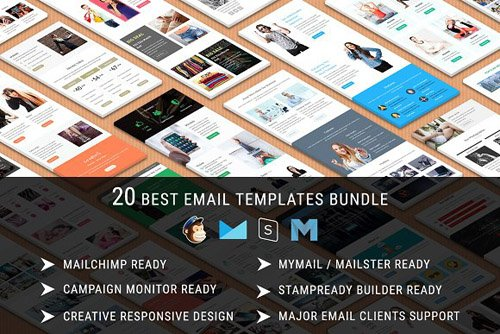 20 Best Email Templates - Bundle 10 - CM 2218693