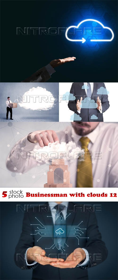 Photos - Businessman with clouds 12