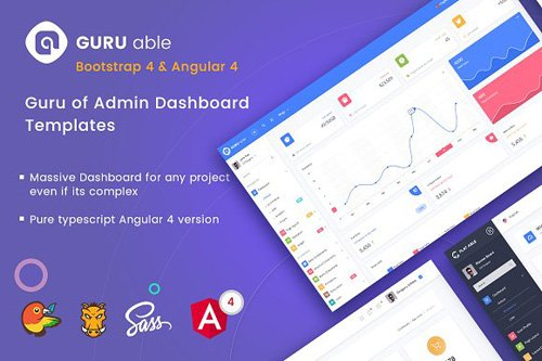 Guru Able BS 4 & Angular 4 Dashboard - CM 1999426