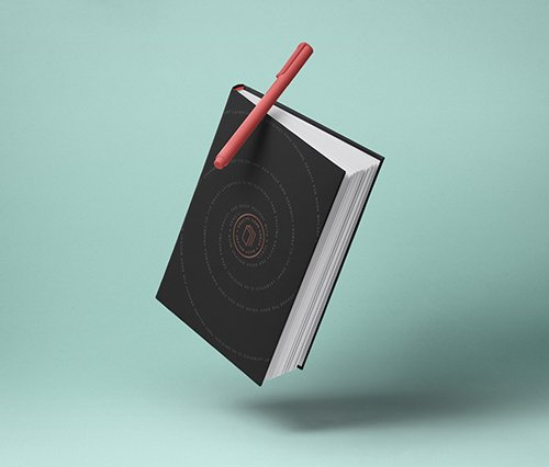 Gravity Book Mockup Hardcover 2 PSD