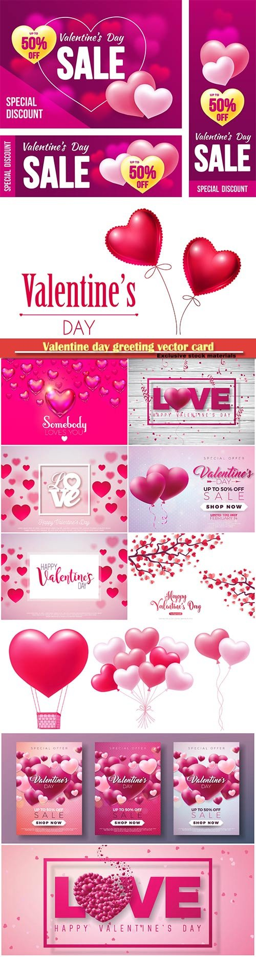 Valentine day greeting vector card, hearts i love you # 26