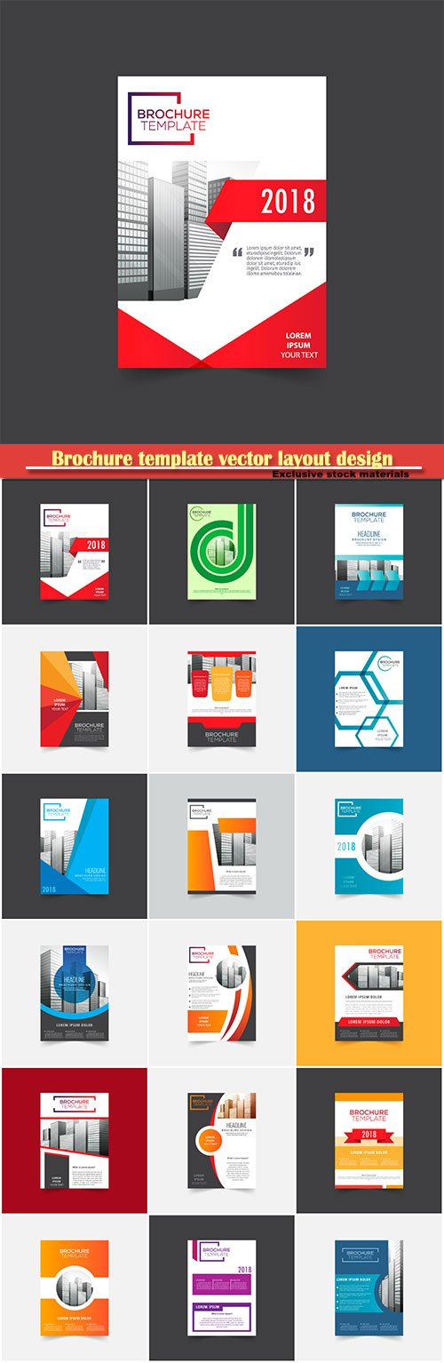 Brochure template vector layout design, corporate business annual report, magazine, flyer mockup # 117