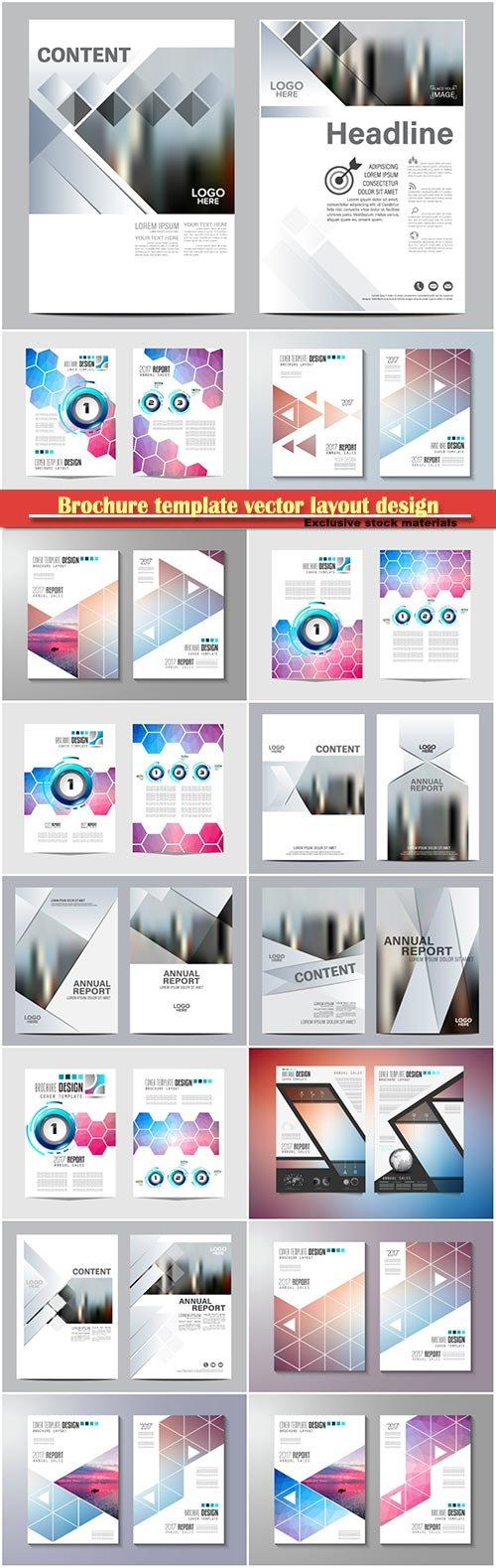 Brochure template vector layout design, corporate business annual report, magazine, flyer mockup # 118