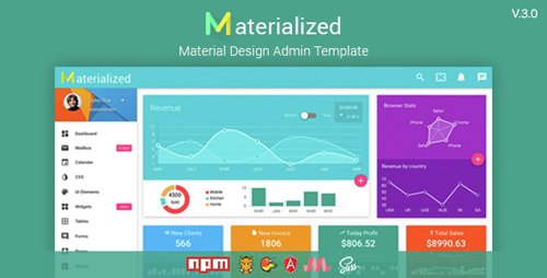 ThemeForest - Materialize v3.0 - Material Design Admin Template - 11446068
