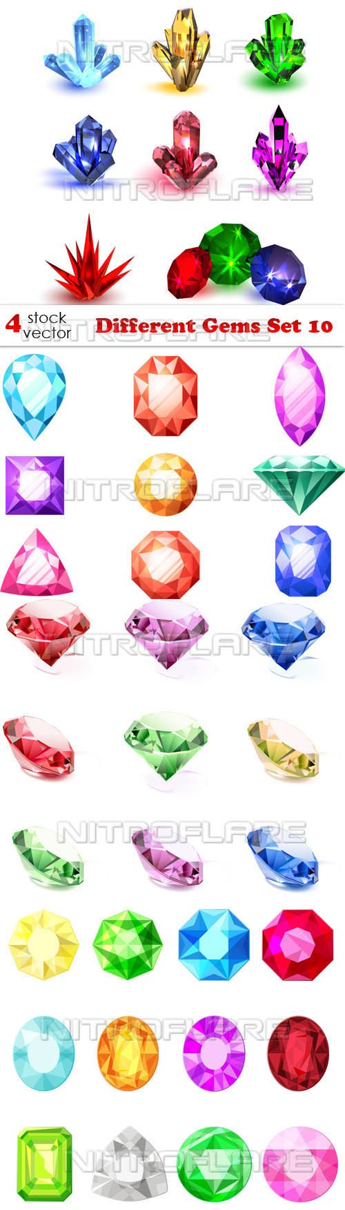 Vectors - Different Gems Set 10