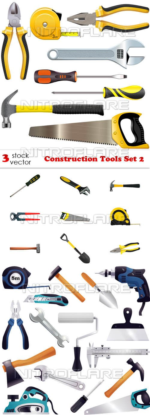 Vectors - Construction Tools Set 2