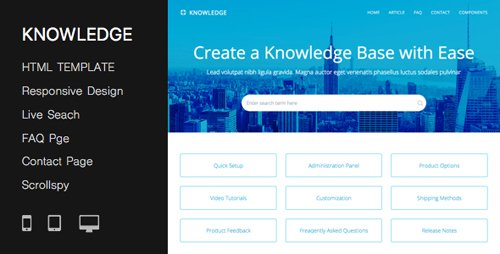 ThemeForest - Responsive Knowledge Base & FAQ HTML Template - 8 March 17 - 4640819