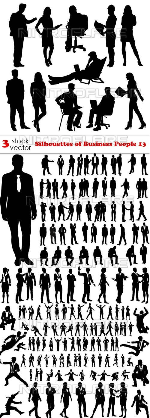 Vectors - Silhouettes of Business People 13