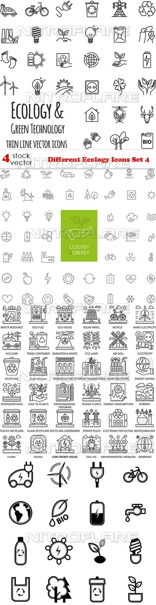 Vectors - Different Ecology Icons Set 4