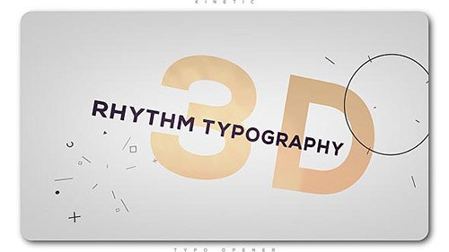 3D Rhythm Typography Intro - Project for After Effects (Videohive)