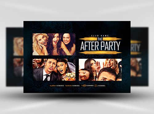 PSD After Party Photobooth Flyer Template