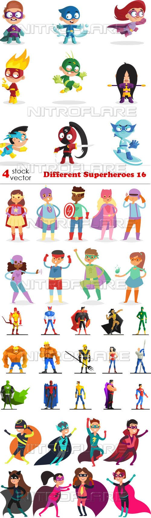 Vectors - Different Superheroes 16