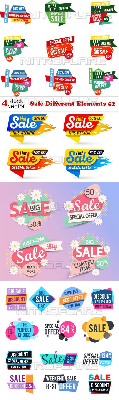 Vectors - Sale Different Elements 52