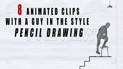 Animated Man Pencil Drawing Effect