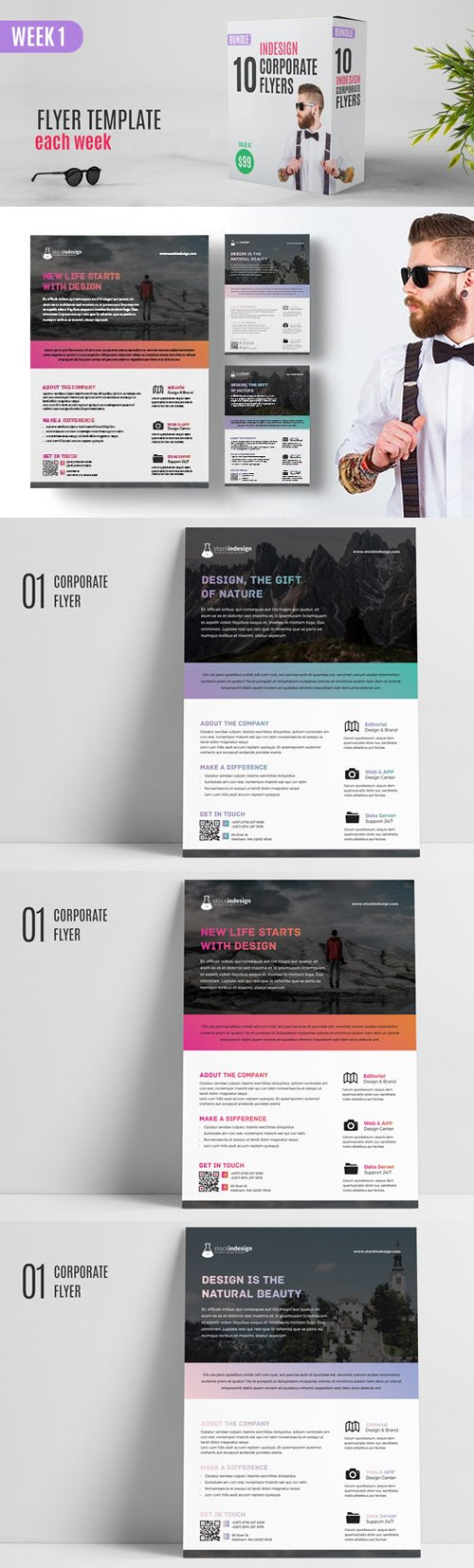 Corporate Flyer Indesign Template 1 (Week 1)